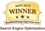 Best Web Design Agencies Award - Search Engine Optimization March 2015