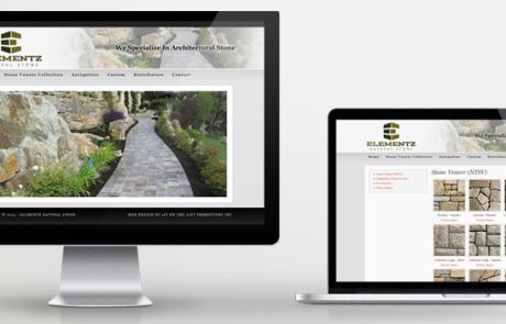 Elementz Stone Website Design