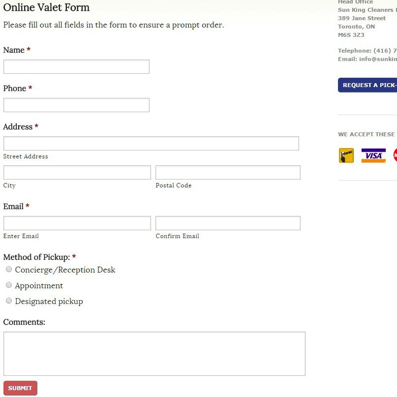 sun-king-online-valet-pick-up-form