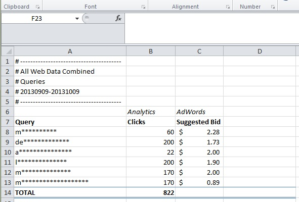 Insert suggested bid price into Excel file
