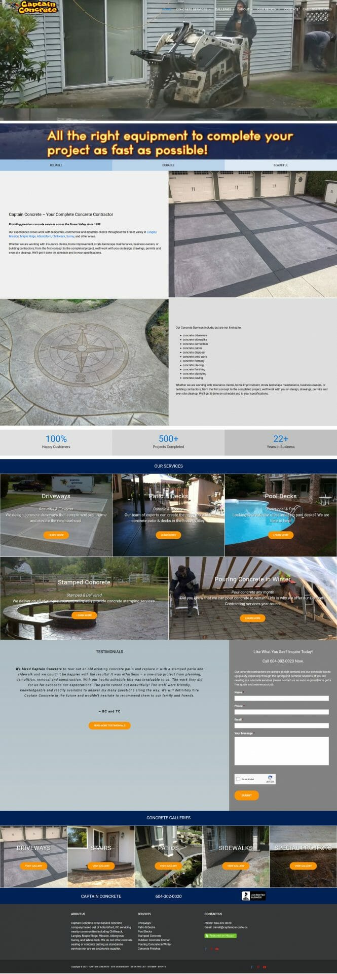 Client examples of stamped concrete