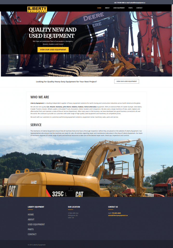 Liberty Equipment Web Design