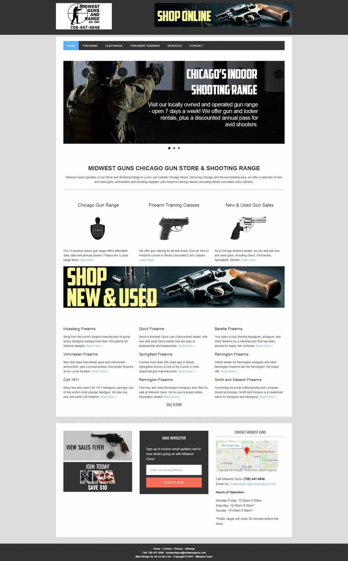 Midwest Guns Website Design