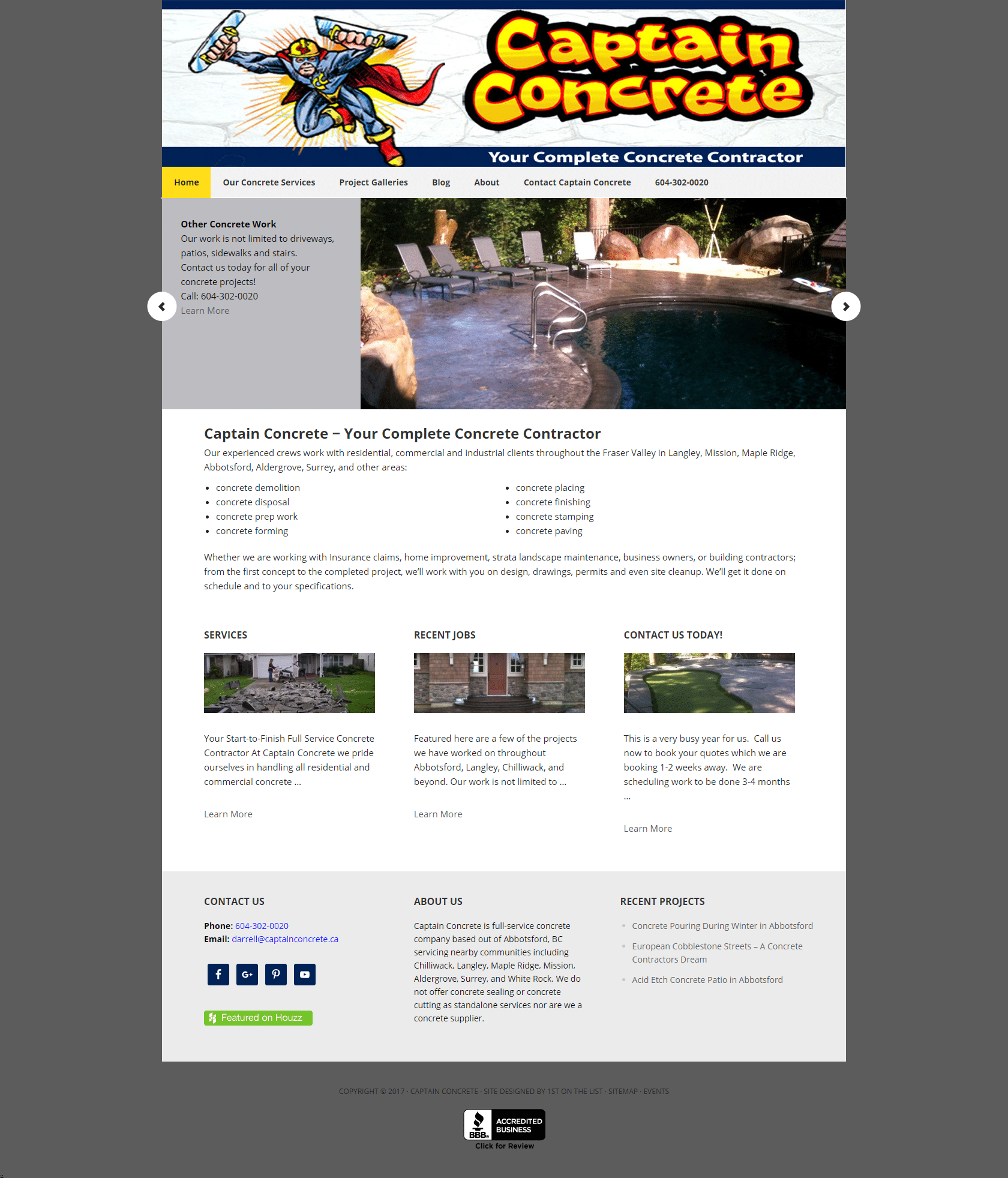 Captain Concrete Web Design