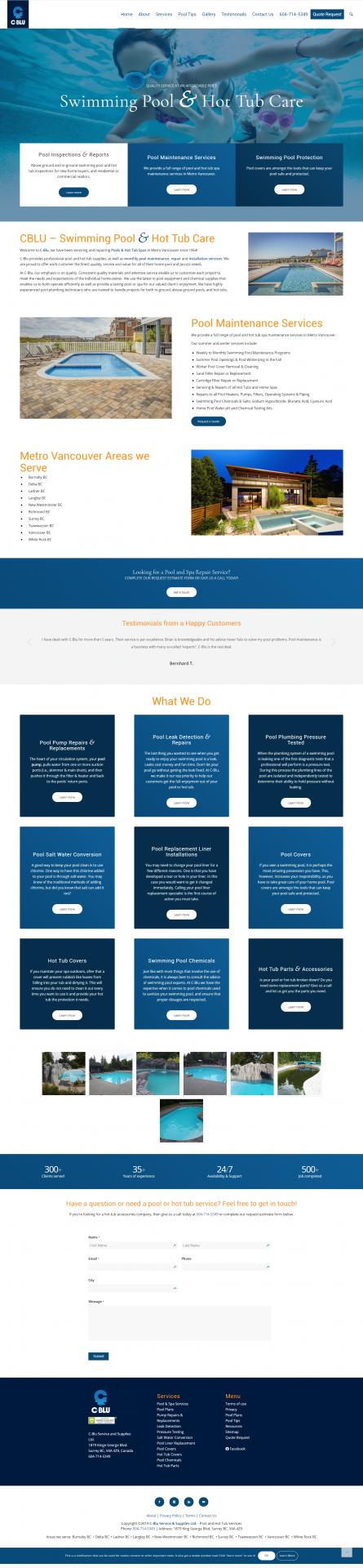 C-blu website layout graphic