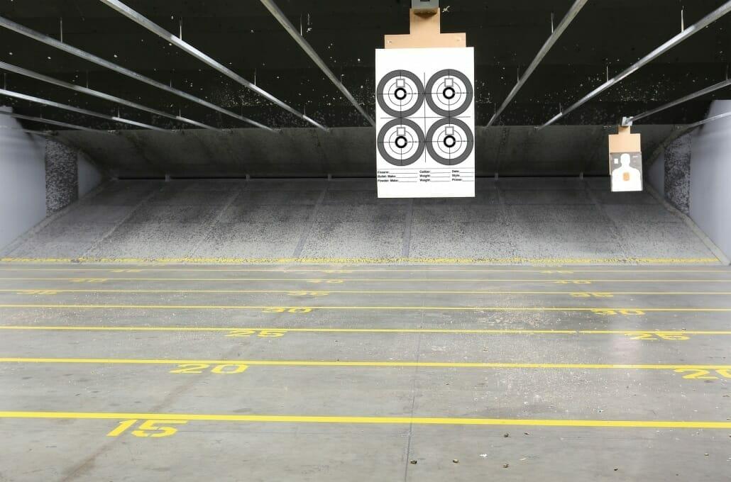 Indoor Gun Target Range