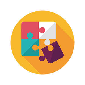 Puzzle icon - with one piece detached