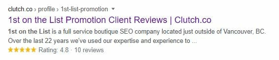 serp reviews snippet