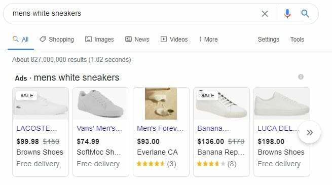 google rich snippet shopping ads