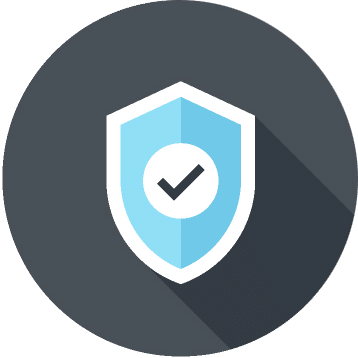 Reliability shield with check mark