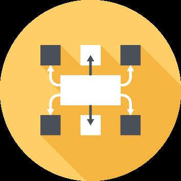 Graphic illustrating connectivity