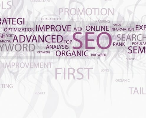 Advanced SEO Infographic showing related terms