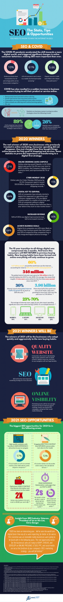 seo for 2021 infographic