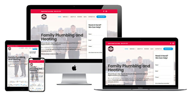 family plumbing and heating website