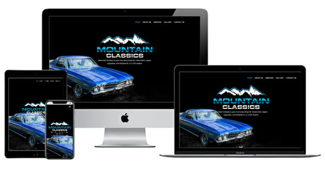 mountain classics custom website