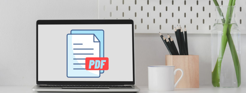 laptop with pdf files